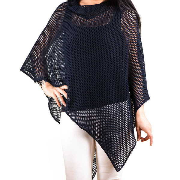 Black Cotton Poncho