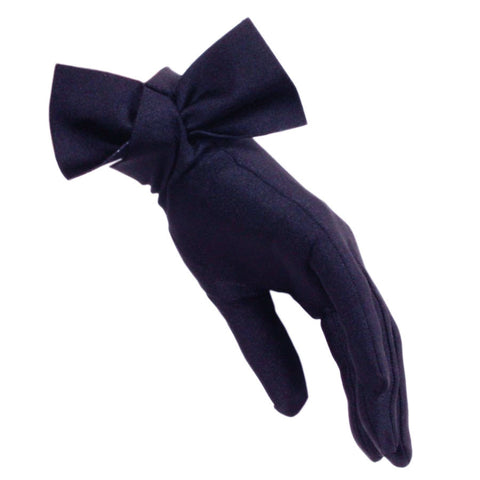 Navy Bow Cocktail Gloves