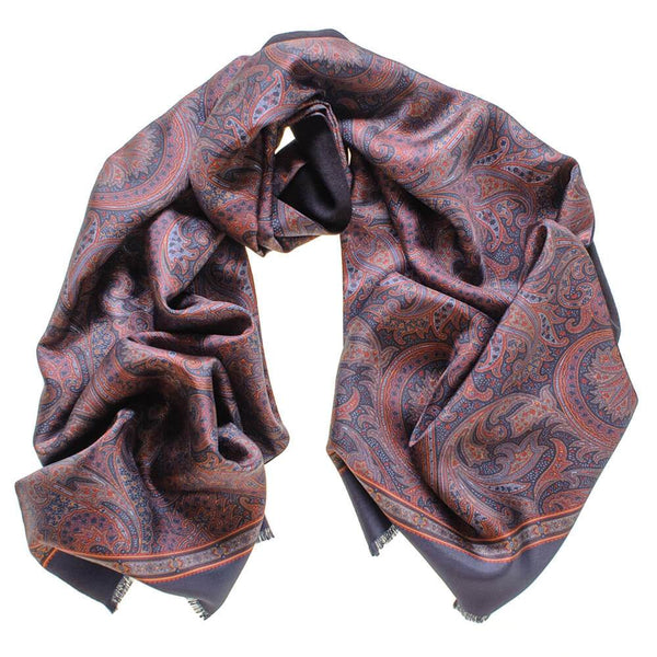 Davoli Double Faced Italian Silk Scarf