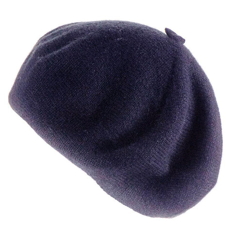 Navy Cashmere Beret