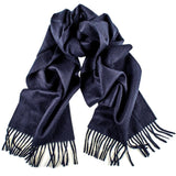 Navy and Tobacco Driving Gloves and Navy Cashmere Scarf Gift Set