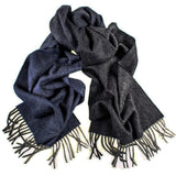 Navy to Grey Graduation Cashmere Scarf