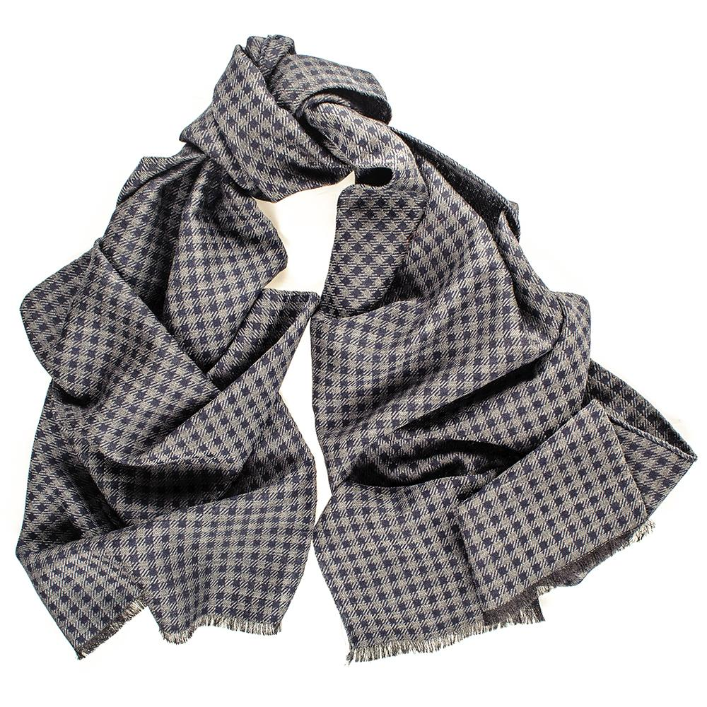 Houndstooth Italian And Silk Wool Scarf Arvo q06Rpwn