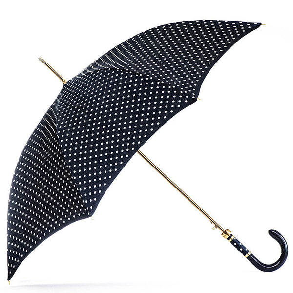 Navy Polka Dot Luxury Umbrella