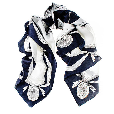 Tara Japanese Silk Twill Square Scarf