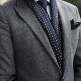 Men's Polka Dot Silk Scarf & Cashmere Tie Set