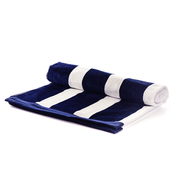 Nautical Navy and White Striped Eygptian Cotton Beach Towel