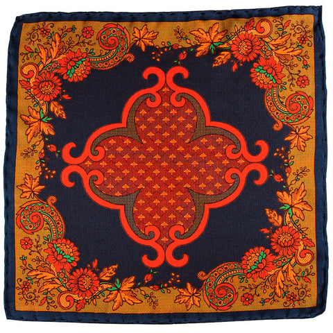 Feronia Italian Silk Pocket Square