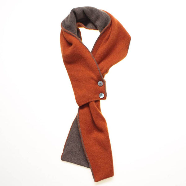 Paprika and Brown Cashmere Cravat Scarf