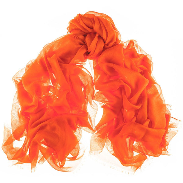Mandarin Orange Modal and Cashmere Shawl