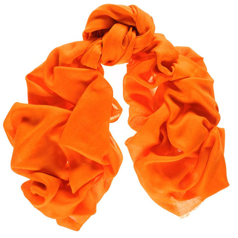 Bright Orange Cashmere and Silk Wrap