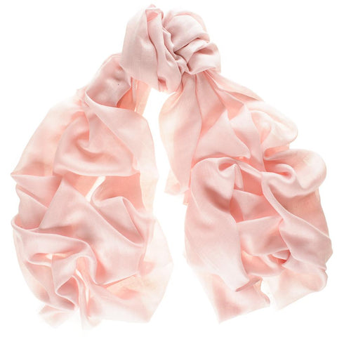 Pastel Pink Cashmere and Silk Wrap