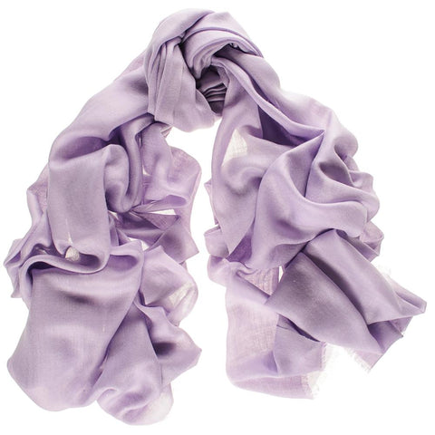 Pastel Lilac Cashmere and Silk Wrap