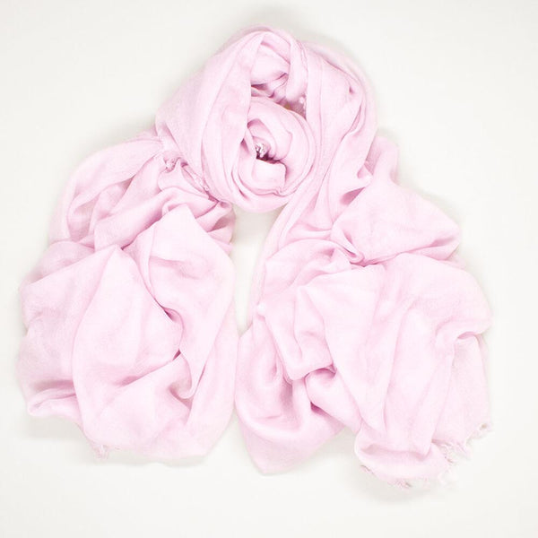 Barely Pink Superfine Cashmere Shawl