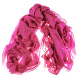 Fuchsia Pink Modal and Cashmere Shawl