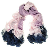 Pink Symphony Modal and Silk Crinkle Scarf