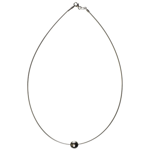 Portia Single Tahitian Black Pearl Necklace - SOLD OUT
