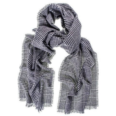 Prince of Wales Check Cashmere Scarf