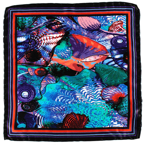 Neptune Italian Silk Pocket Square