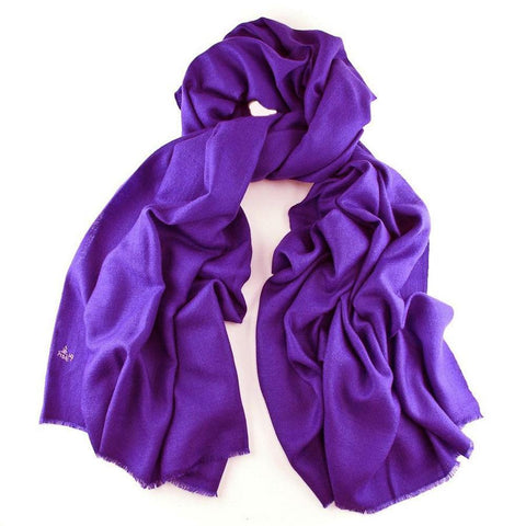 Purple Handwoven Cashmere Shawl