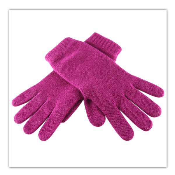 Raspberry Cashmere Gloves