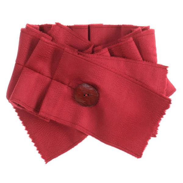 Garnet Red Cashmere Collar