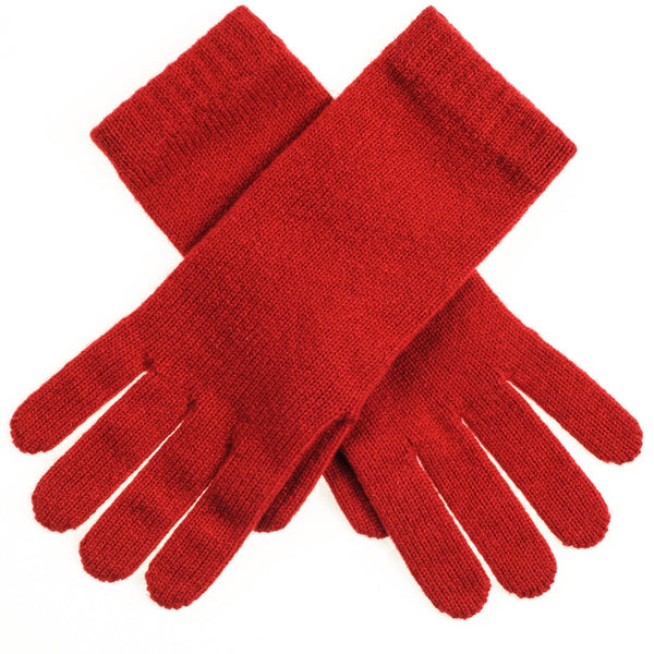 Ladies' Red Cashmere Gloves