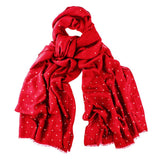 Swarovski Red Wrap in Cashmere and Silk