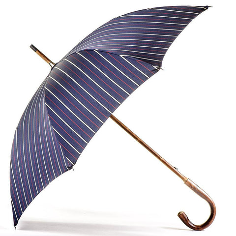Navy Red and White Stripe Luxury Umbrella