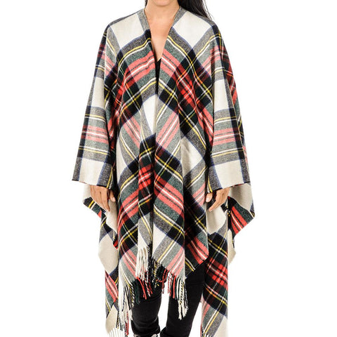 Dress Stewart Tartan Merino Wool Cape