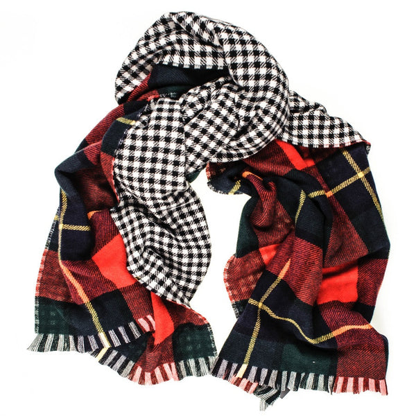 Tartan and Check Double Faced Cashmere Scarf