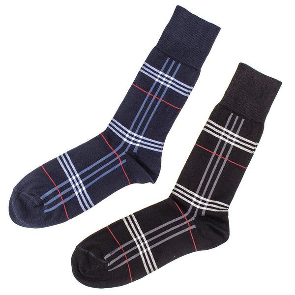 Set of Two Egyptian Cotton Tartan Socks