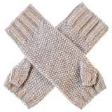 Silver Grey and Gold Cashmere Wrist Warmers