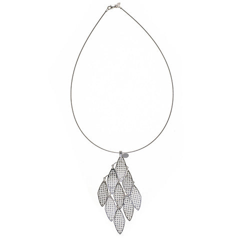 Filigree Leaf  Sterling Silver Choker