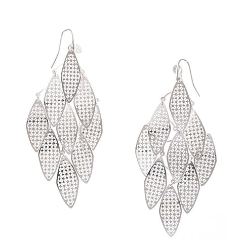 Filigree Leaf Sterling Silver Earrings