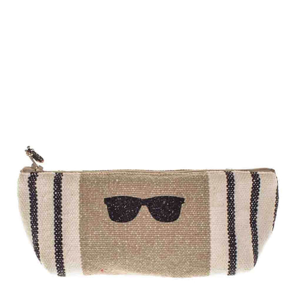 Deauville Small Linen Make Up Bag