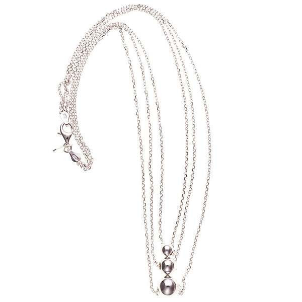 Gabriella Triple Strand Sterling Silver Necklace
