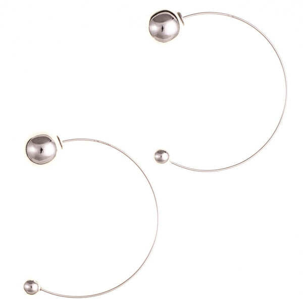 Zara Sterling Silver Ball Hoop Earrings