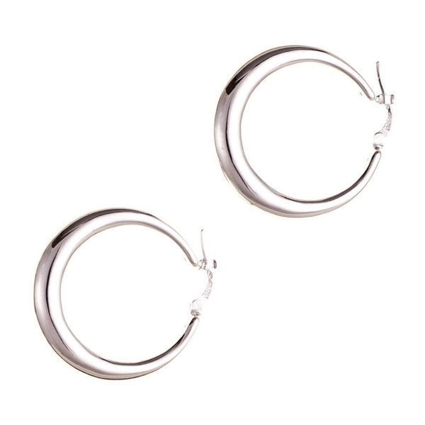Bella Sterling Silver Hoop Earrings