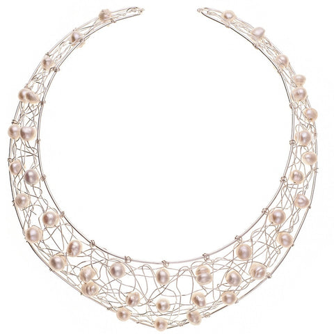 Sophia Sterling Silver and Pearl Choker
