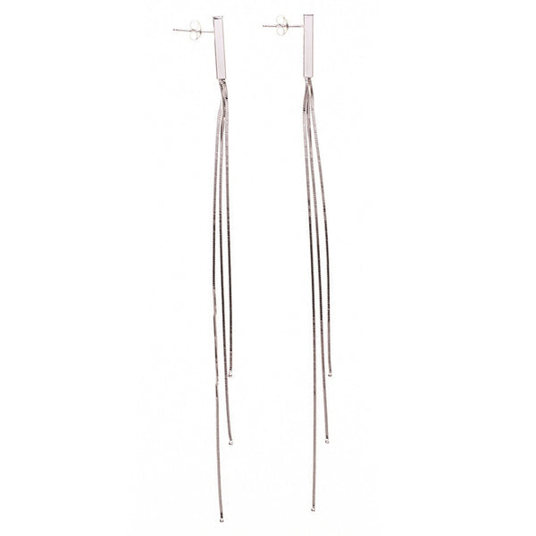 Alexa Sterling Silver Tassel Earrings