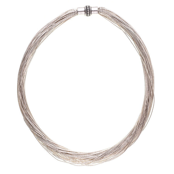 Amelia Multi Strand Sterling Silver Necklace