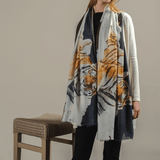 Cashmere and Silk Tiger Print Scarf