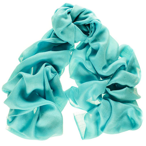 Bright Turquoise Cashmere and Silk Wrap