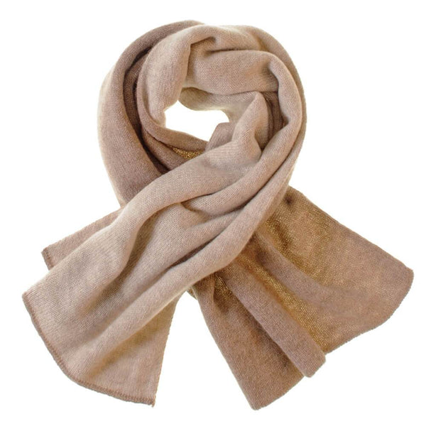 Brown and Beige Double Faced Cashmere Neck Warmer