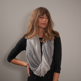 Two Tone Grey Double Sided Long Cashmere Snood
