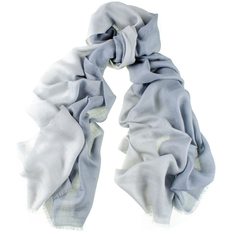 Silver to Platinum Cashmere and Silk Wrap