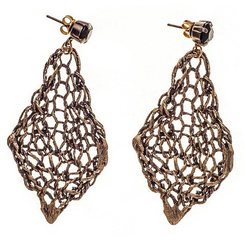Vela Bronze and Agate Earrings