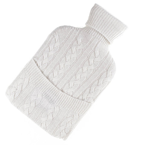 White Cashmere Water Bottle Cover
