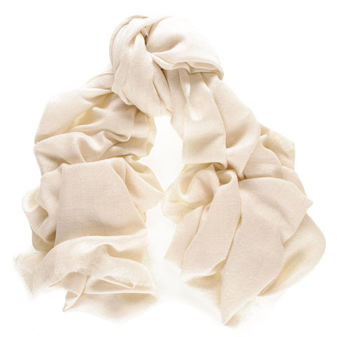 White Cashmere Ring Shawl